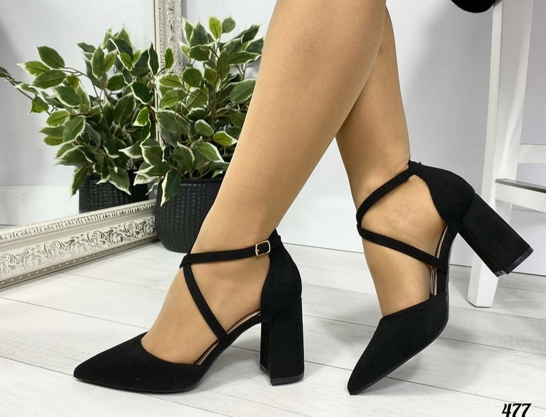 Женские замшевые туфли на удобном каблучке, ОВ 1260 ст