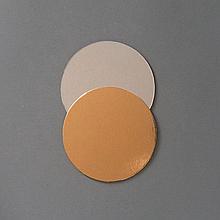 Подложка под торт ∅-90 мм, золото/серебро - 1 мм