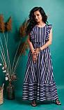 Очаровательное летнее женское платье в полоску 42-50рр., фото 3