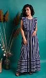 Очаровательное летнее женское платье в полоску 42-50рр., фото 4
