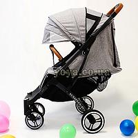 Прогулочная коляска YOYA Plus Pro, рама графит, расцветка Серая
