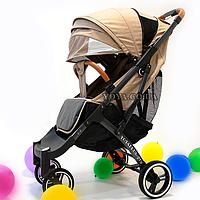 Прогулочная коляска YOYA Plus Pro, рама графит, расцветка Беж