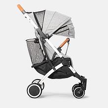 Прогулочная коляска YOYA Plus 4, рама чёрная, расцветка Серый