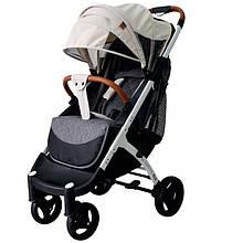 Yoya Plus Max 2020  Беж (рама чёрная и белая) детская коляска Йойа Плюс Макс