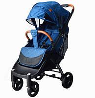 Yoya Plus Max 2020  Синяя (рама чёрная и белая) детская коляска Йойа Плюс Макс