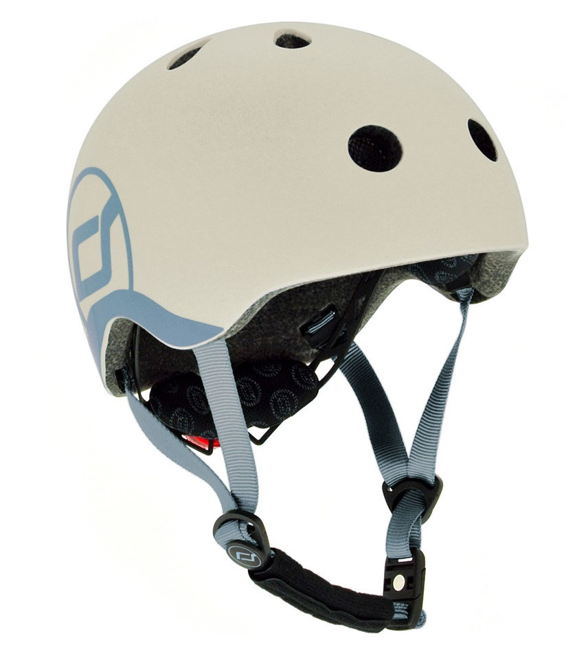 Шлем защитный детский Scoot and Ride, с фонариком, 45-51см XXS/XS (SR-181206-ASH)