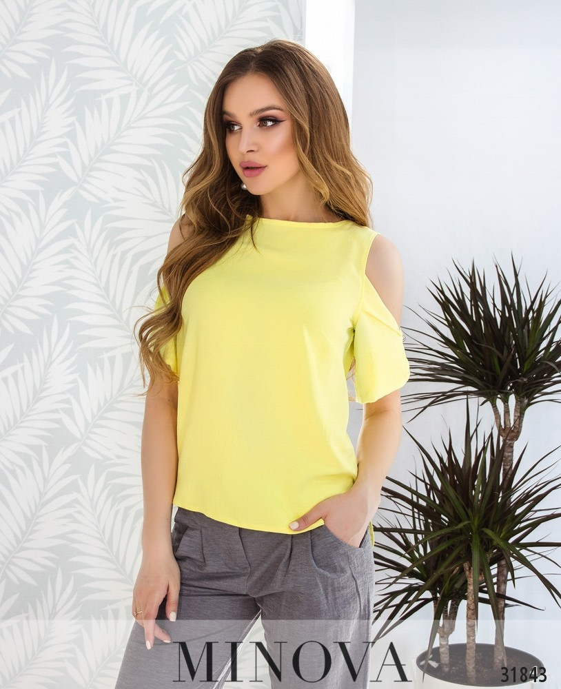 Модная женская блузка на лето Размеры 42,44,46