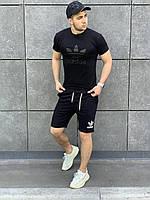 Летний костюм Adidas Комплект мужской Шорты + Футболка с логотипом Качество LUX Реплика (разные цвета)