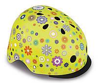 Шлем защитный детский Globber Цветы, с фонариком, 48-53см XS/S (507-106), фото 1