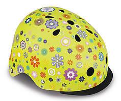 Шлем защитный детский Globber Цветы, с фонариком, 48-53см XS/S (507-106)