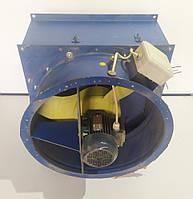 Б/у Осевой вентилятор Интеркондиционер серии ВО-12-300 (B-06-300) вместе с клапаном