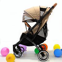Прогулочная коляска YOYA Plus Pro, рама графит, расцветка Коричневая
