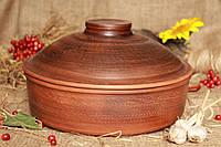 Сковорода 3 л. из красной глины