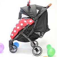 Прогулочная коляска YOYA Plus Pro, рама графит, расцветка Чёрная