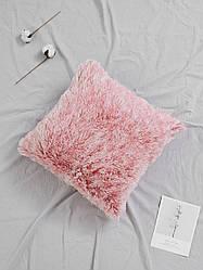 "Декоративная подушка ""Пушистик"" градиент омбре розовый"
