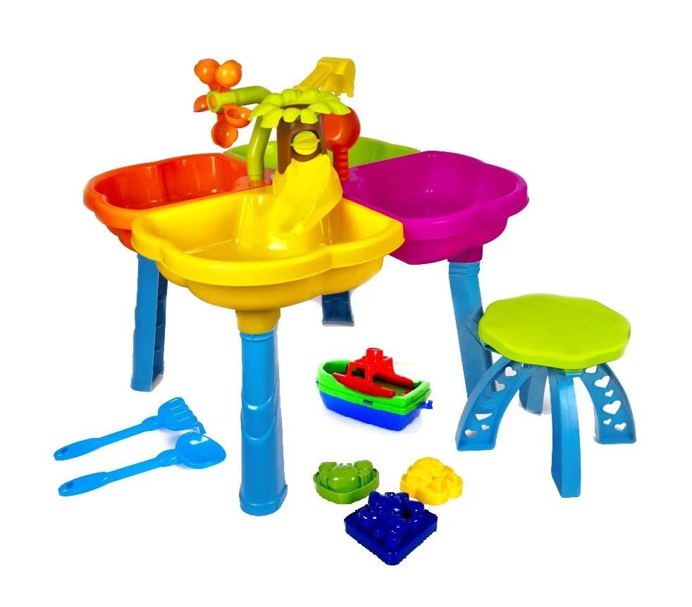 Детский игровой столик песочница  Kinderway (KW-01-122) со стульчиком и аксессуарами
