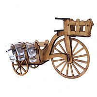 Мини-бар Велосипед с рюмками | Бары для дома | Оригинальные подарки | Подставки под бутылки