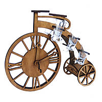 Мини-бар Велосипед с часами и рюмками | Бары для дома | Оригинальные подарки | Подставки под бутылки