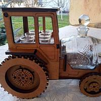 Мини-бар Трактор с рюмками и бочкой | Бары для дома | Оригинальные подарки | Подставки под бутылки