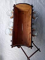 Мини-бар Фира с рюмками | Бары для дома | Оригинальные подарки | Подставки под бутылки