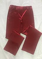 Брюки женские стрейч сатин красные, фото 1