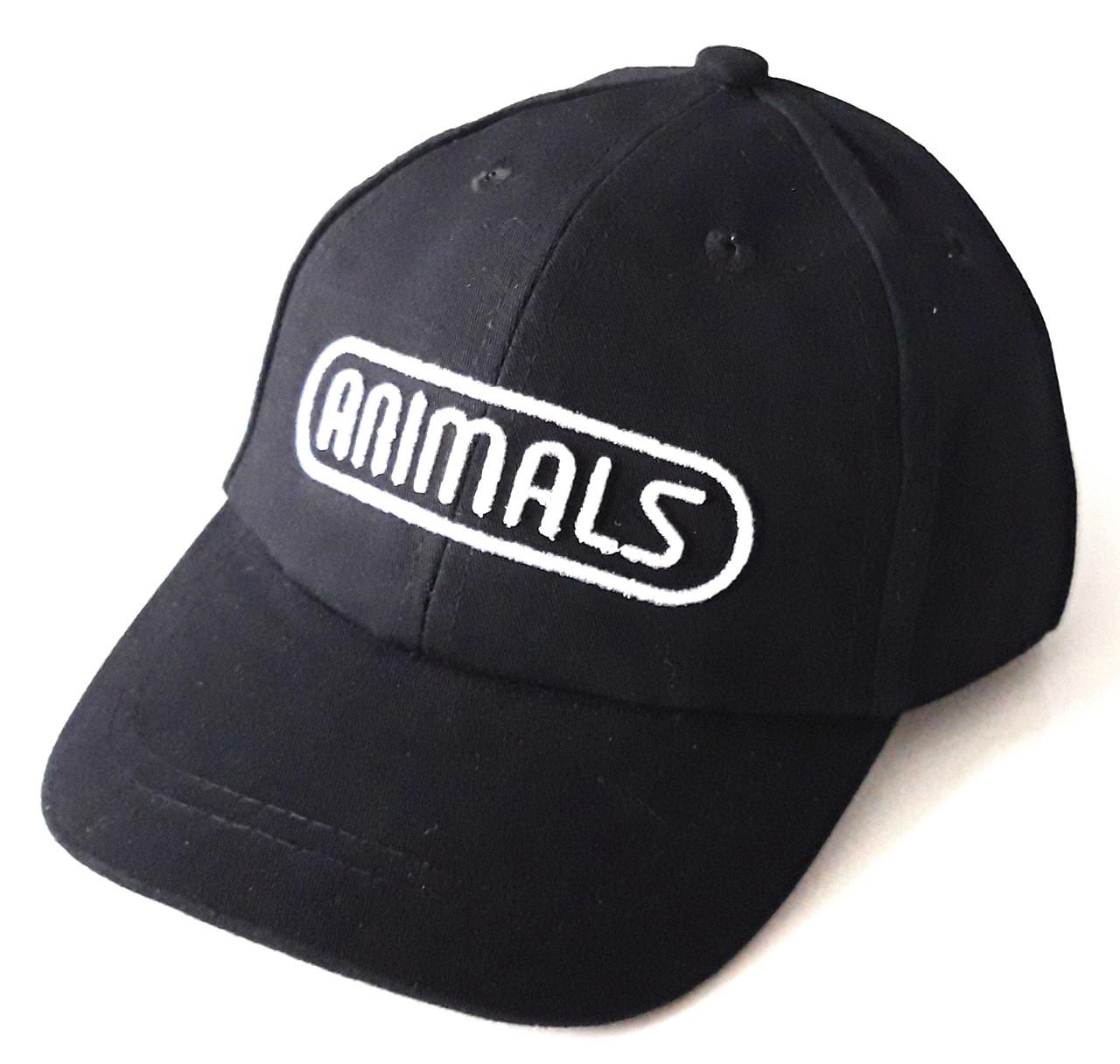 Кепка детская хлопковая Animals (50-52 см) черная
