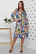 Платье летнее разноцветное длинное с цветами, с длинным рукавом. Размеры с 42 по 52. Платье летнее штапель, фото 3