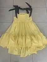 Легкий сарафан для девочки на молнии с воланами 140-152 р