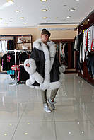 Пончо  с мехом полярной лисы   индпошив