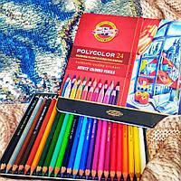 Карандаши цветные 24 шт koh-i-noor Polycolor 3834