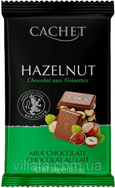 Бельгийский шоколад Cachet Hazelnut с фундуком 300 gr