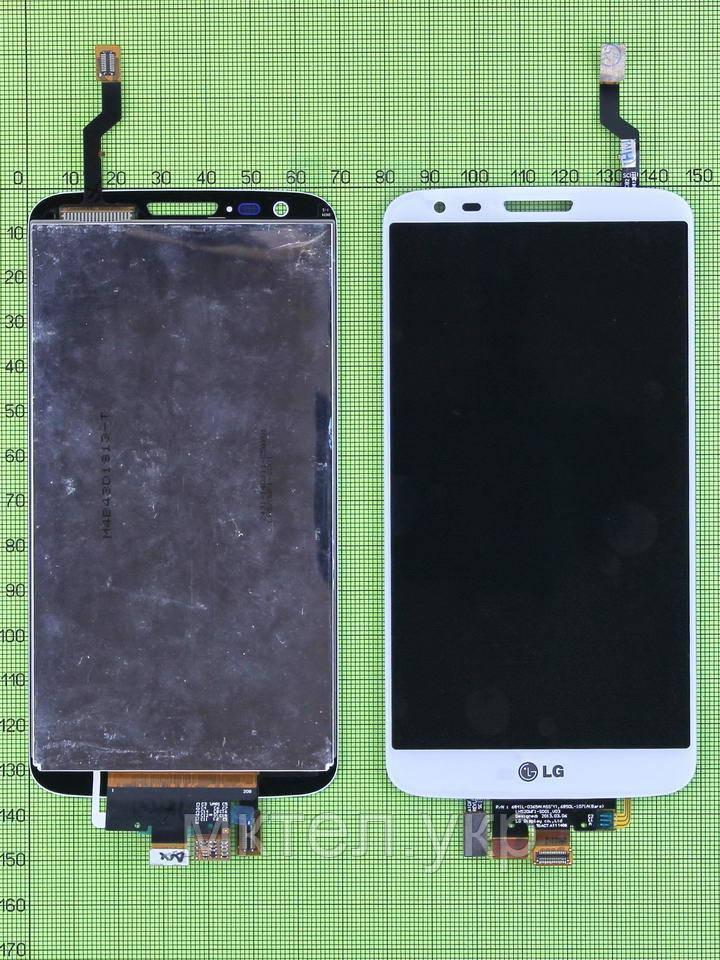 Дисплей LG G2 D802 с сенсором, белый copyA