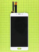Дисплей Meizu M3E с сенсором, белый copyAA