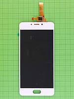 Дисплей Meizu M5C с сенсором, белый self-welded