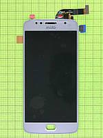 Дисплей Motorola Moto G5s (XT1794) с сенсором, серебристый orig-china
