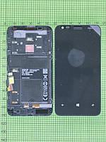 Дисплей Nokia Lumia 620 с сенсором, панелью, черный orig-china