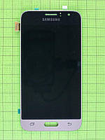 Дисплей Samsung Galaxy J1 2016 J120F с сенсором, TFT матрица с регул, золотистый copyAAA