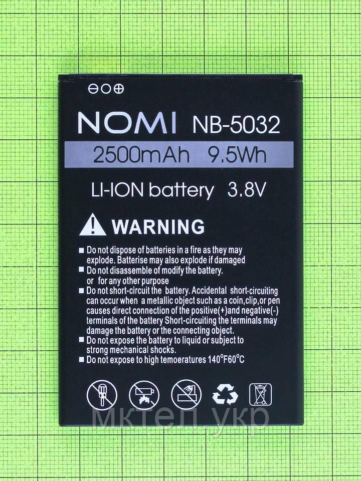 Аккумулятор NB-5032 Nomi i5032 EVO X2 2500mAh, Оригинал
