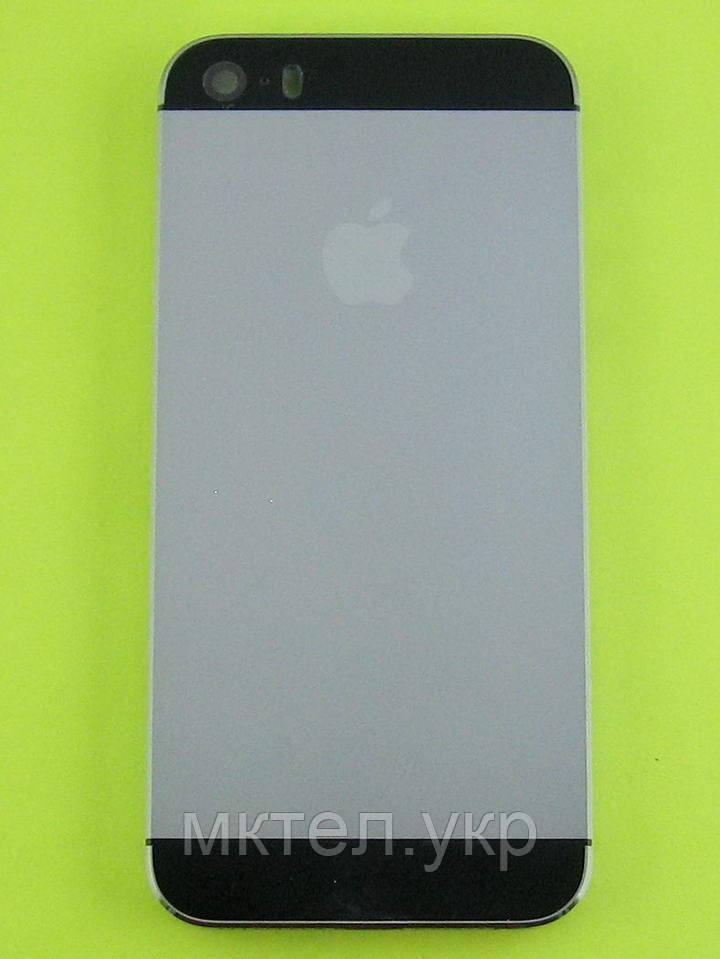 Задняя крышка iPhone 5S с кнопками, черный orig-china