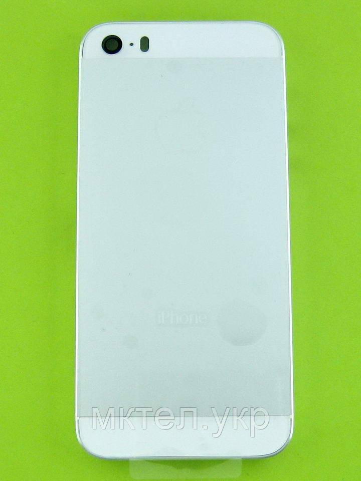 Задняя крышка iPhone 5S, серебристый copyAA