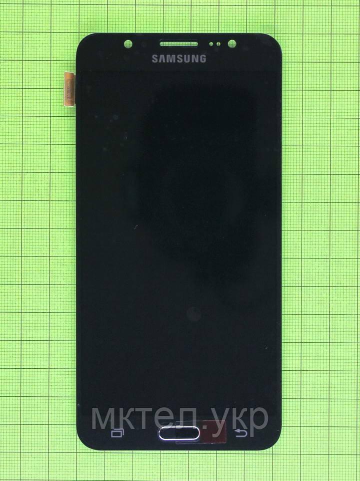 Дисплей Samsung Galaxy J7 2016 J710F с сенсором, TFT матрица, черный copyAAA