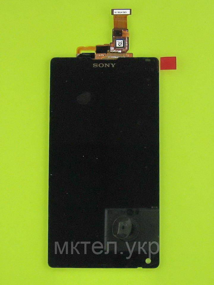 Дисплей Sony Xperia ZL C6502 L35h с сенсором, черный orig-china