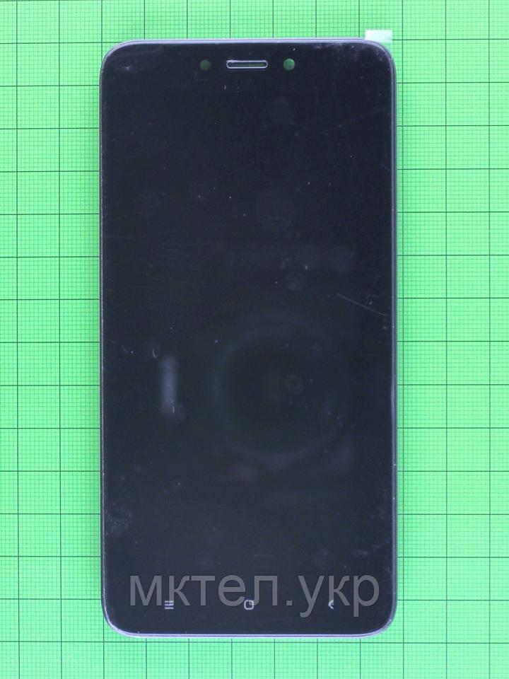 Дисплей Xiaomi Redmi 4X с сенсором, корпусом, черный self-welded