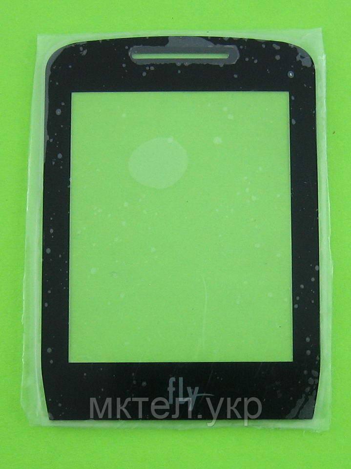 Стекло передней панели FLY DS185, черный, Оригинал #50301091