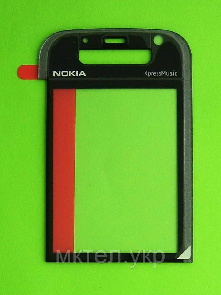 Стекло передней панели Nokia 5730, серый, Оригинал #9461839