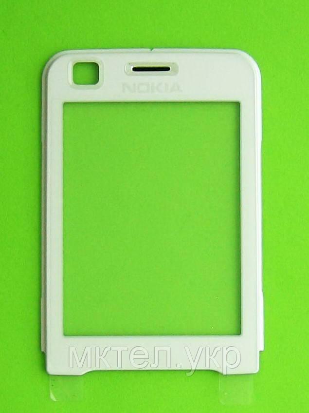 Стекло передней панели Nokia 6120 classic, белый, Оригинал #0269871