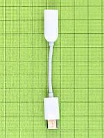 Переходник USB Type-C - аудио Xiaomi Mi6, белый Оригинал #451XXXW040F7