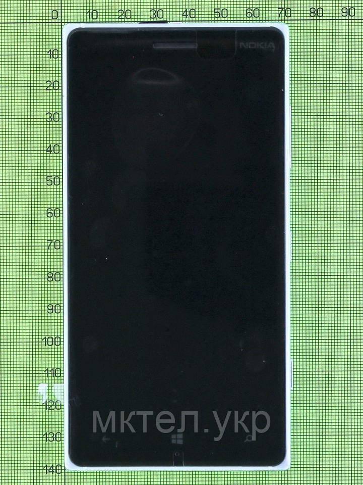 Дисплей Nokia Lumia 830 с сенсором, панелью, серебристый used