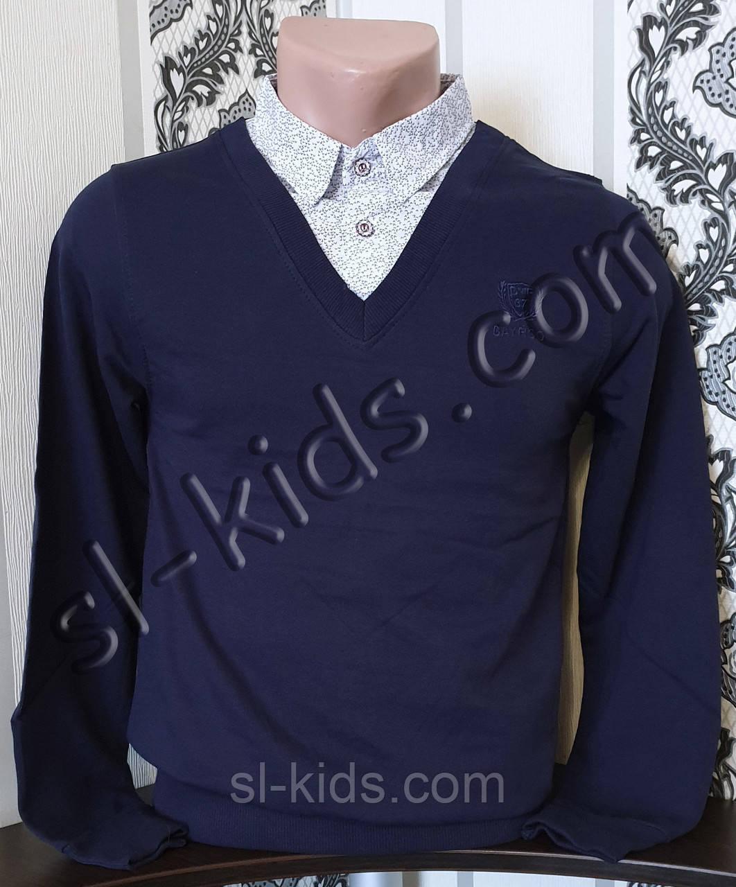 Джемпер обманка FIGO для хлопчика 134-164 см (темно синій) (пр. Туреччина)