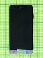 Дисплей Samsung Galaxy J3 SM-J320 с сенсором, золотистый, Оригинал #GH97-18414B